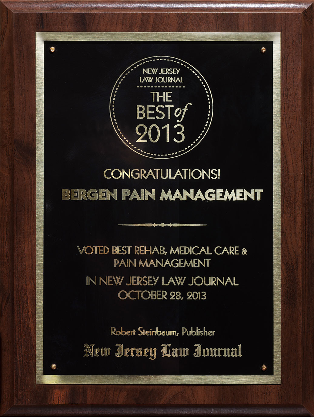 New Jersey Law Journal Best of 2013