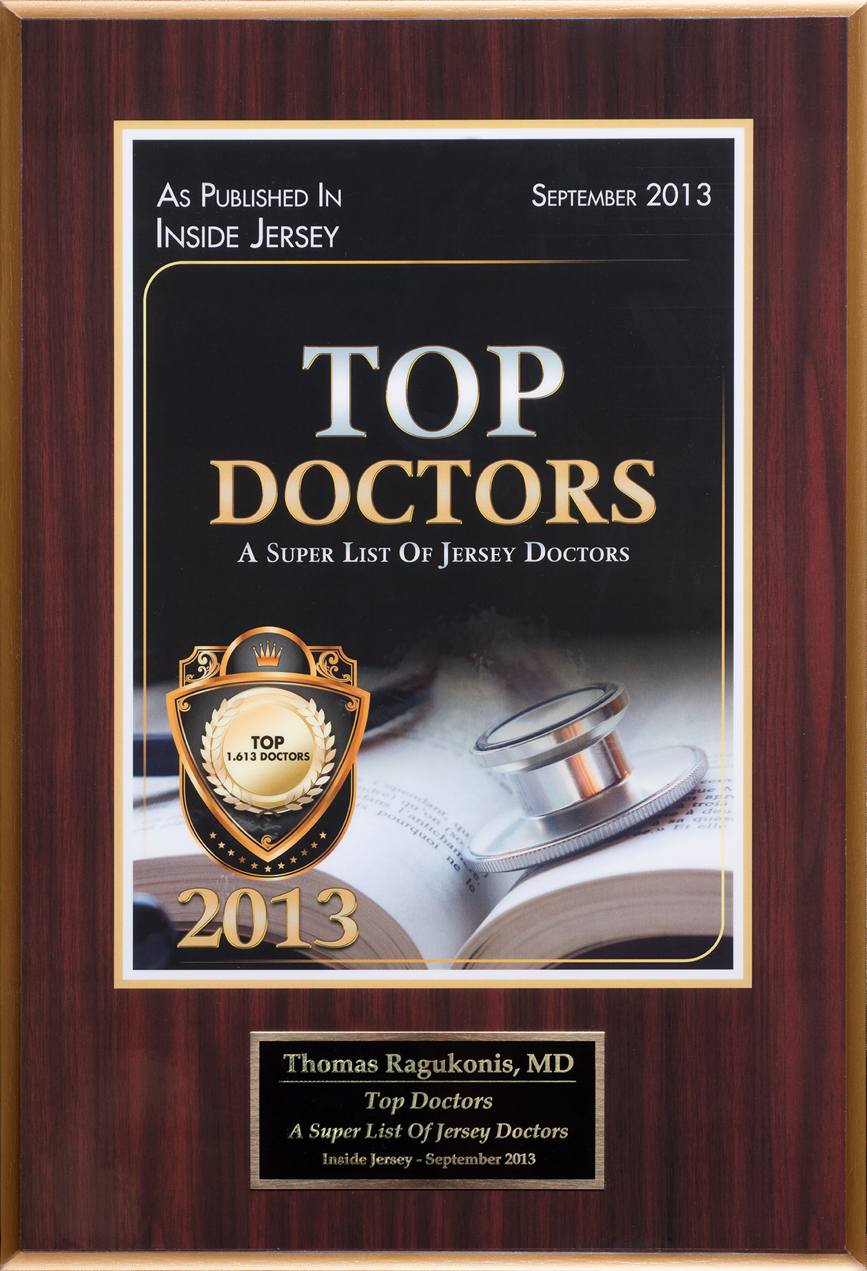 Inside Jersey Magazine Top Doctors 2013